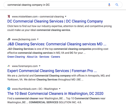 Commercial Cleaning Companies DC