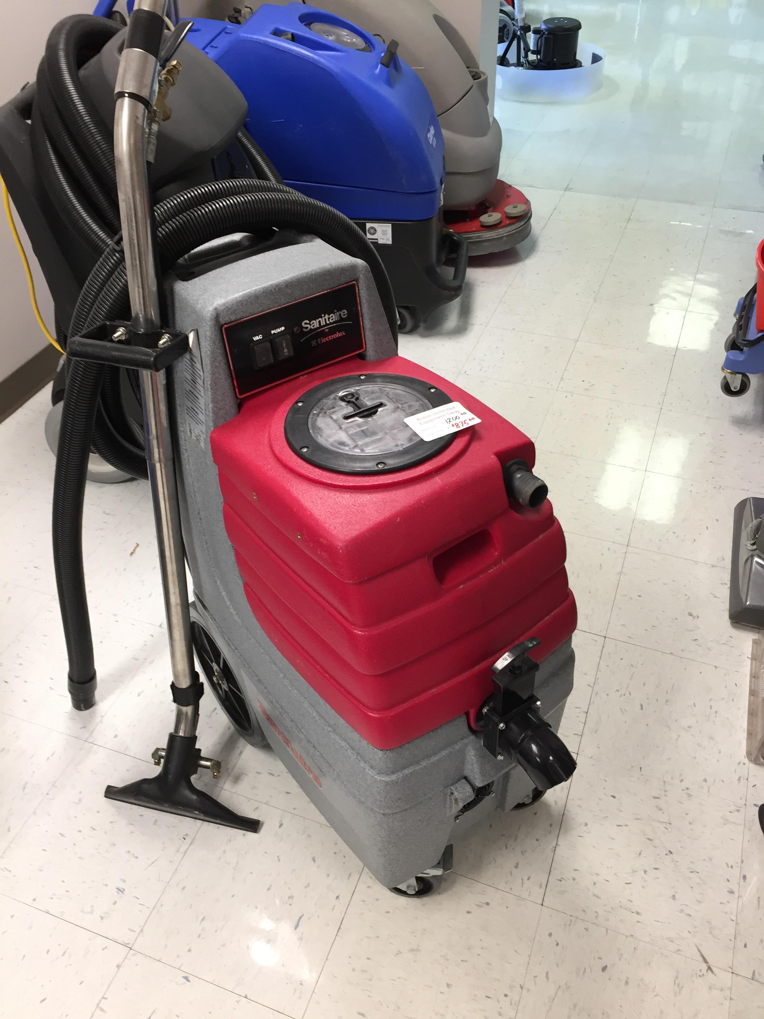 used sanitaire carpet extractor