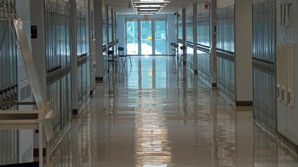 shiny floor